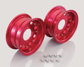 "8"" Kitaco alloy rim set 8hole design Red"