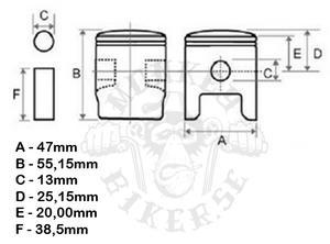 Piston kit ST70 6v