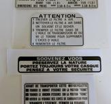 Warning decals Z50J1 1976 France