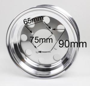 "8"" aluminumfälgar 8-håls CNC Svart"