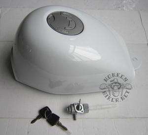 Gas tank Monkey J2 new style white