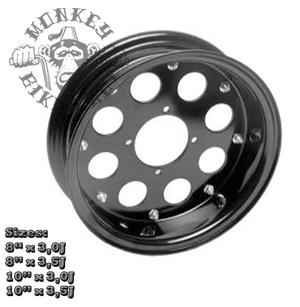"8"" alloy rim 8hole design Black"