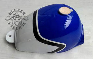 Gas tank Monkey J2 replica blue white black