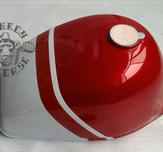 Gas tank Monkey J2 replica red white