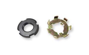 Clutch nut and lock plate